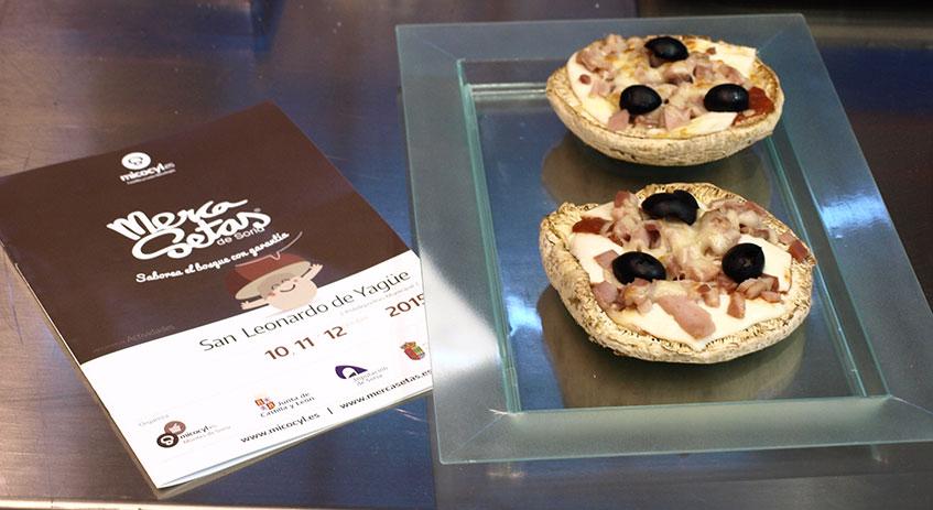 Minipizza micológica de Jesús Jiménez del Restaurante Cintora de El Royo (Soria)